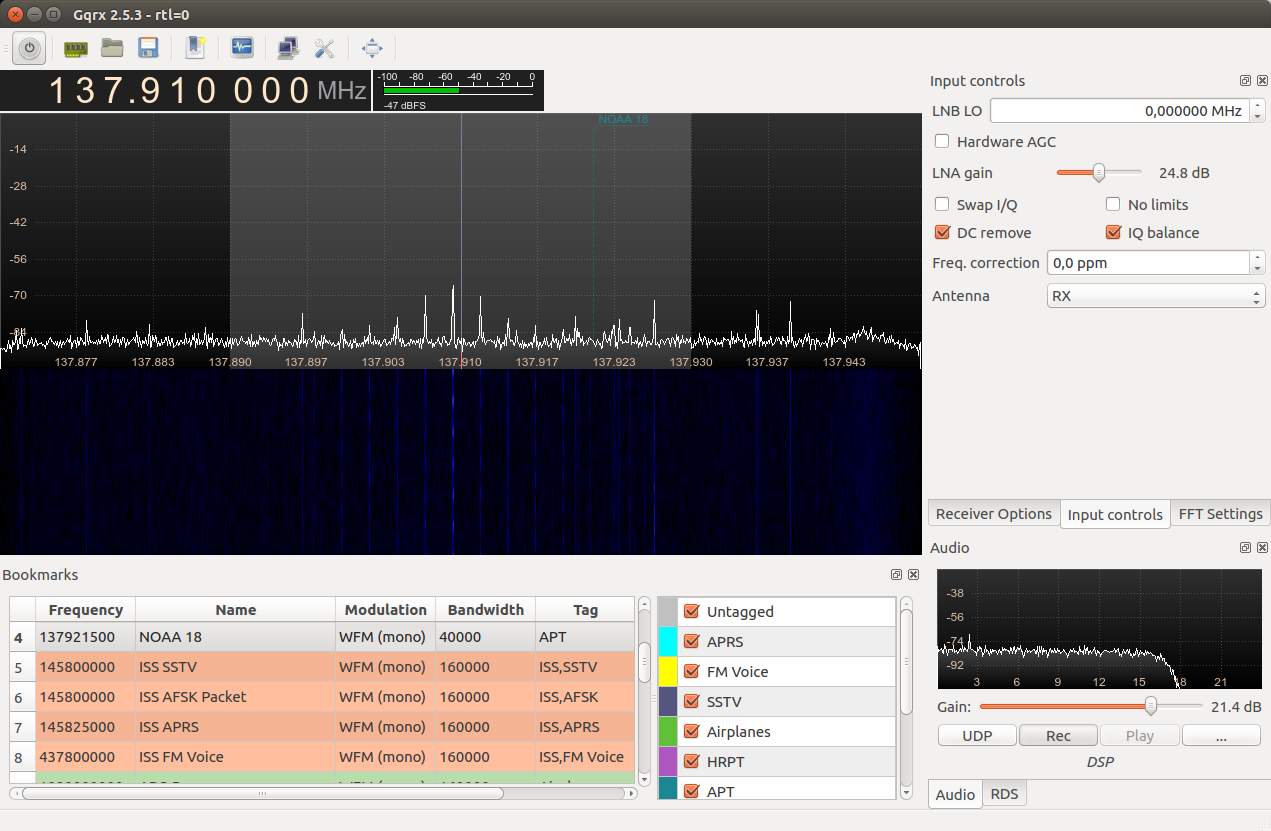 Recording NOAA APT Signals with GQRX and RTL-SDR on Linux - Lets Hack It
