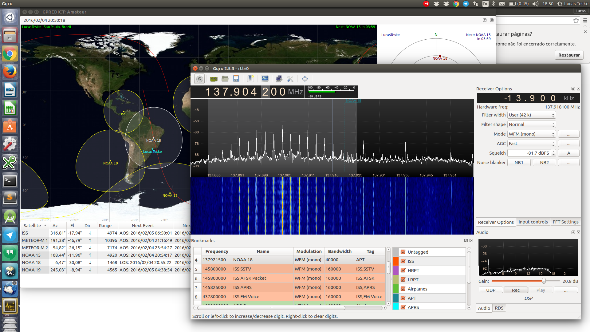 Recording NOAA APT Signals with GQRX and RTL-SDR on Linux
