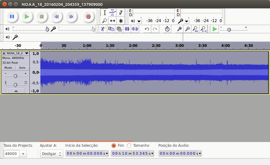 Normalized Signal in Audacity