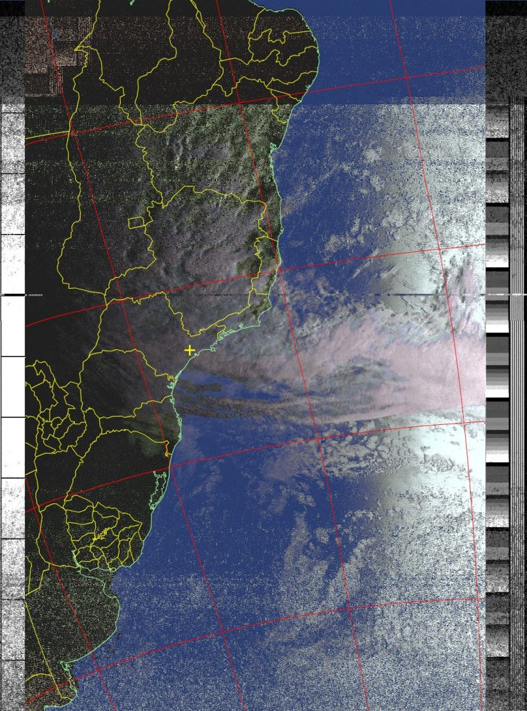 Processed NOAA 18 image